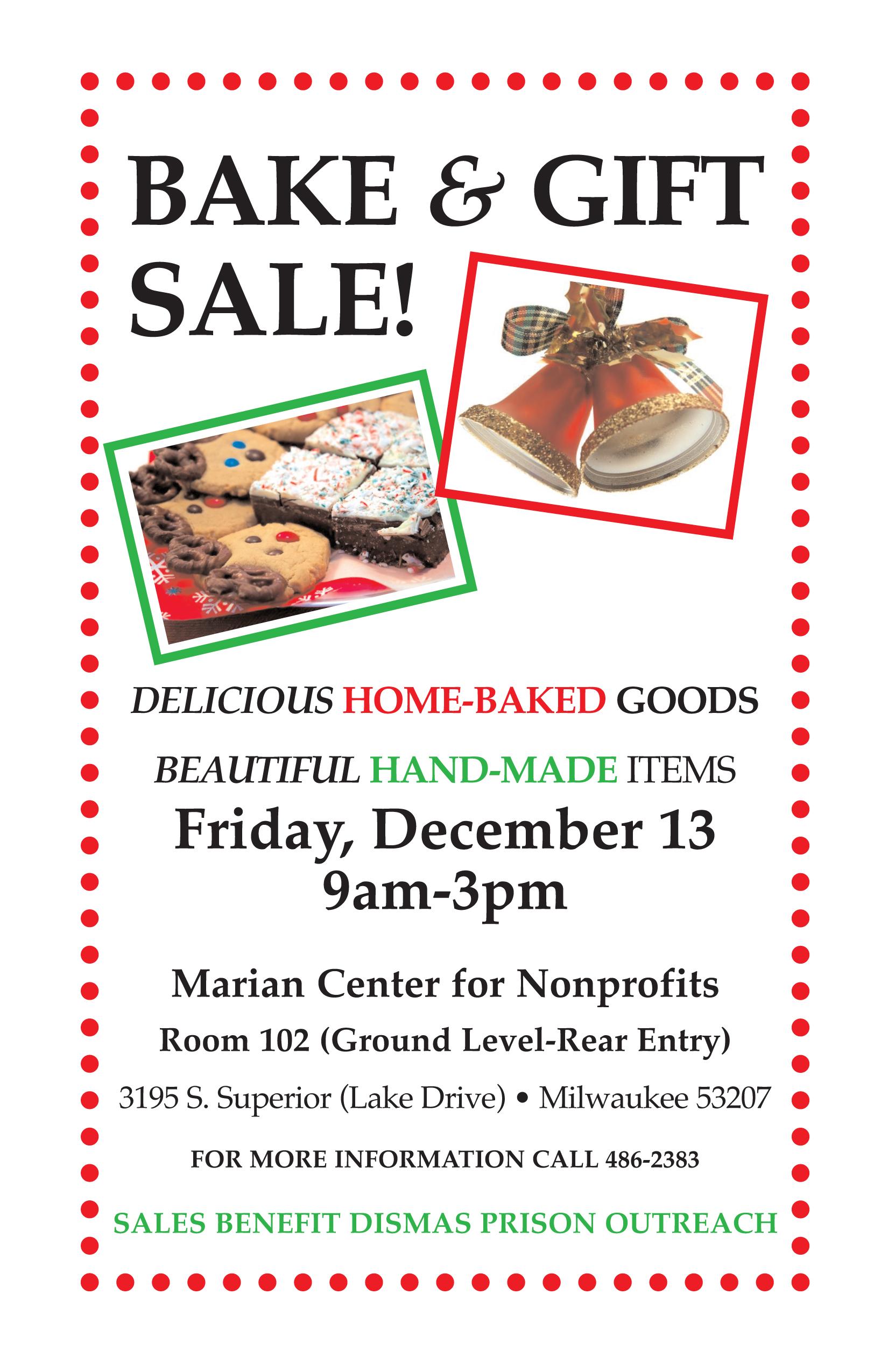 Bake Sale, Friday, Dec 13th, 2013